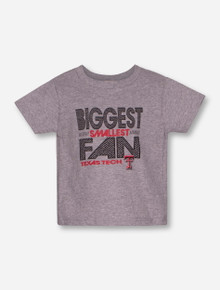 """Texas Tech Red Raiders """"Biggest Smallest Fan"""" TODDLER T-Shirt"""