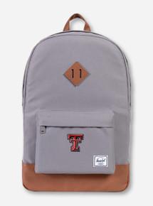 """Herschel Texas Tech Red Raiders """"Heritage"""" Grey Backpack"""