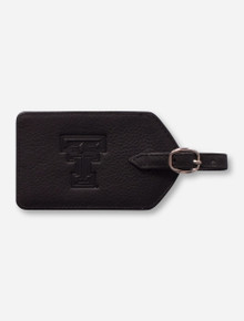 Canyon Outback Texas Tech Red Raiders Leather Luggage Tag