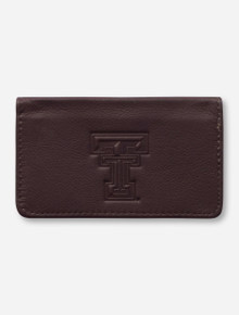 Canyon Outback Texas Tech Red Raiders Leather Business Card Case