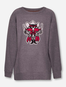 """Texas Tech Red Raiders Pressbox """"Mercy"""" Raider Red YOUTH Terry Sweater"""