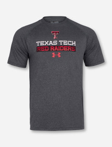 """Texas Tech Red Raiders Under Armour """"Line of Scrimmage"""" Charcoal T-Shirt"""