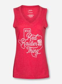 "Texas Tech Red Raiders Pressbox ""It's Red Raider Thing"" Tank Top"