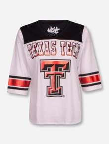 Texas Tech Red Raiders 3/4 Sleeve Color Block V-Neck