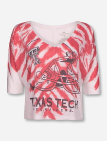 Texas Tech Red Raiders Helmet Crop Top