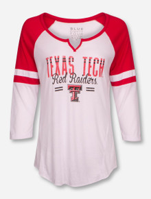 "Texas Tech Red Raiders ""Ellie Liquid Varsity"" 3/4 Sleeve Tee"