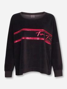 Texas Tech Red Raiders Velour Oversized Sweatshirt