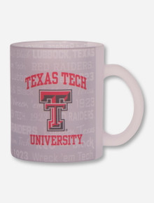 Texas Tech Red Raiders Frosted Text Pattern Coffee Mug