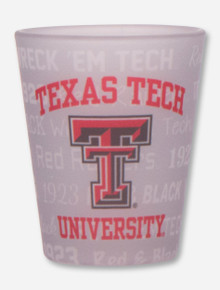 Texas Tech Red Raiders Frosted Text Pattern Shot Glass