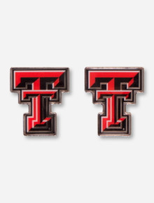 Texas Tech Red Raiders Mirror Finish Double T Earrings