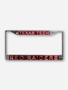 Texas Tech Red Raiders on Red & Chrome License Plate Frame