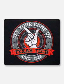 Texas Tech Guns Up Black Mouse Pad