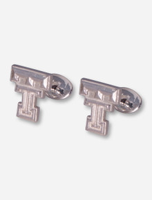 Texas Tech DaynaU Double T Sterling Silver Cuff Links