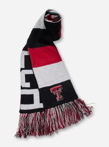 Texas Tech Reversible Baker Red, Black & White Scarf