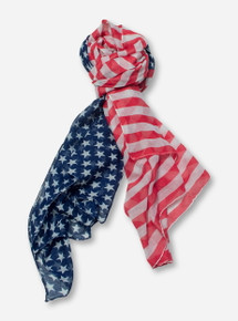 Stars & Stripes Red, White & Blue Scarf - Texas Tech
