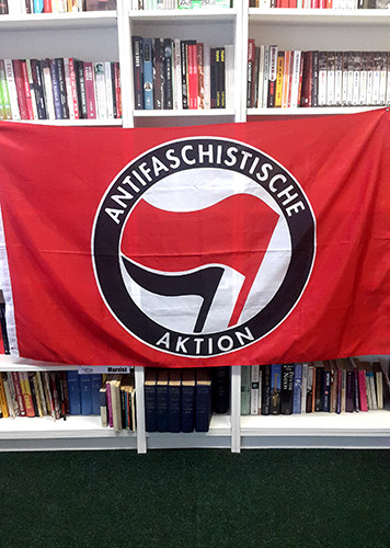 ANTIFA (Antifaschistische) Flag (red) - 5 x 3ft
