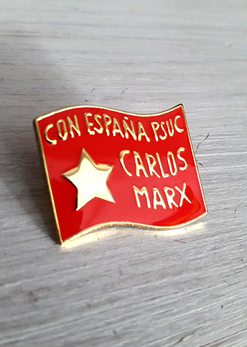 Reproduction from the Spanish civil war, this time the red flag of the PSUC.