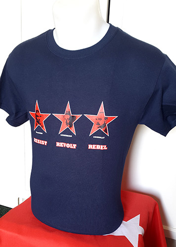 Resist | Revolt | Rebel (Maclean, Luxemburg, Connolly) t-shirt