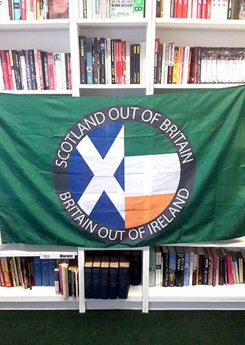 Scotland Out of Britain, Britain Out of Ireland flag