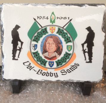 Volunteer Bobby Sands slate.