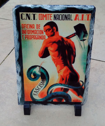 CNT Smash Fascism slate