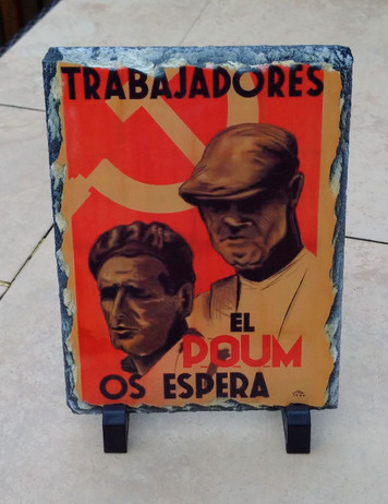 POUM Spanish Civil War slate