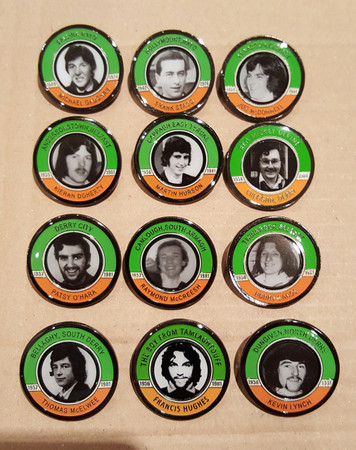 Hunger Strike commeorative badge set