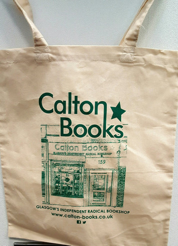 Calton Books sand colour cotton tote bag