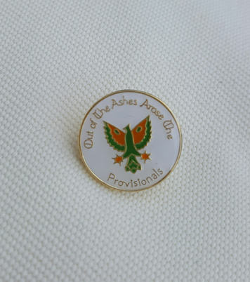 Out of the Ashes.... 18mm enamel badge