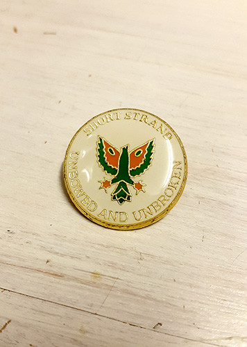Phoenix Short Strand - Unbowed & Unbroken Enamel Badge
