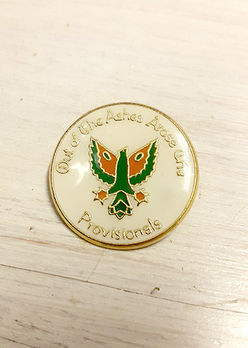 Phoenix - Out of the Ashes - Provisionals Enamel Badge