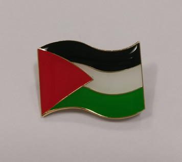 Palestinian enamel flag badge