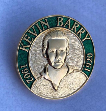 KEVIN BARRY 3D enamel badge