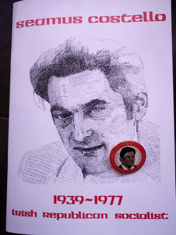 Seamus Costello commemorative pamphlet & enamel badge