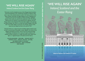 We Will Rise Again, Scotland, Ireland & the Easter Rising