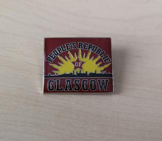 People's Republic of Glasgow enamel badge