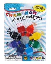 Dreidel Shaped Chanukah Crayons