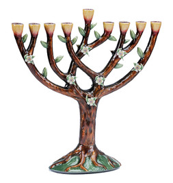 Enameled Tree of Life Menorah