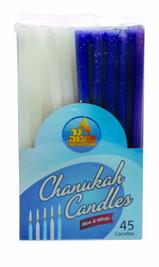 Blue & White Chanukah Candles