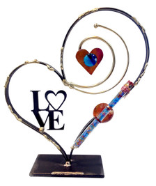 Heart Stand with Tube for Shards of Wedding Glass