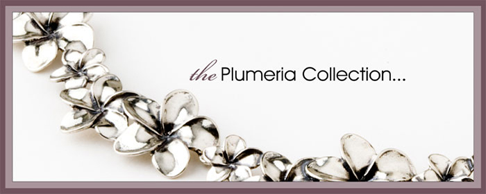 Sterling Silver Plumeria Jewelry Collection