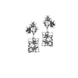 Hibiscus Flower Post Earrings