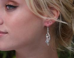 Silver Lily Dangle Earrings
