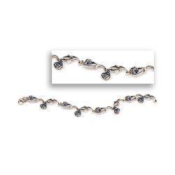 Sterling Silver Rose Bracelet