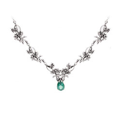 Four Link Wildflower Necklace with 3 Carat Gemstone