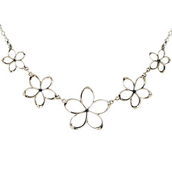 Plumeria Pua Melia Plumeria Necklace with Five Graduated Flowers