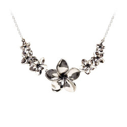 Plumeria Necklace with Seven Plumeria Flowers