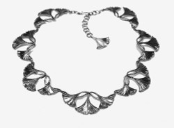 Ginkgo Three Leaf Necklace