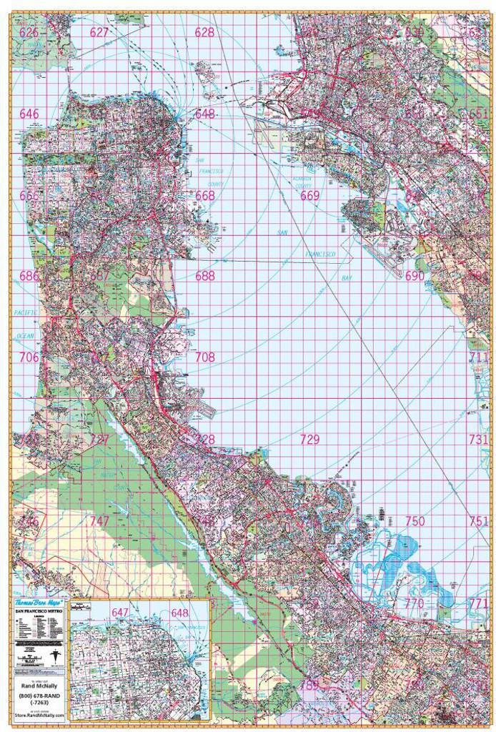 Thomas Bros. San Francisco Wall Map