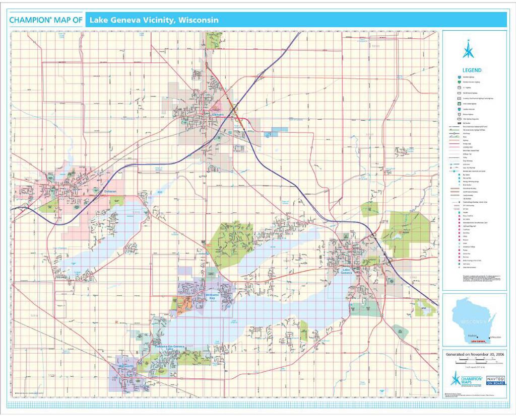 Maps Wall Maps Rand McNally Store - Tourist map of usa east coast